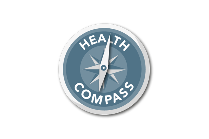 Health compass pictogram
